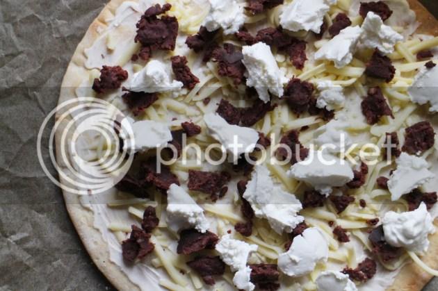 photo Black Pudding and Goats Cheese White Pizza 2_zpsebhrfq6g.jpg