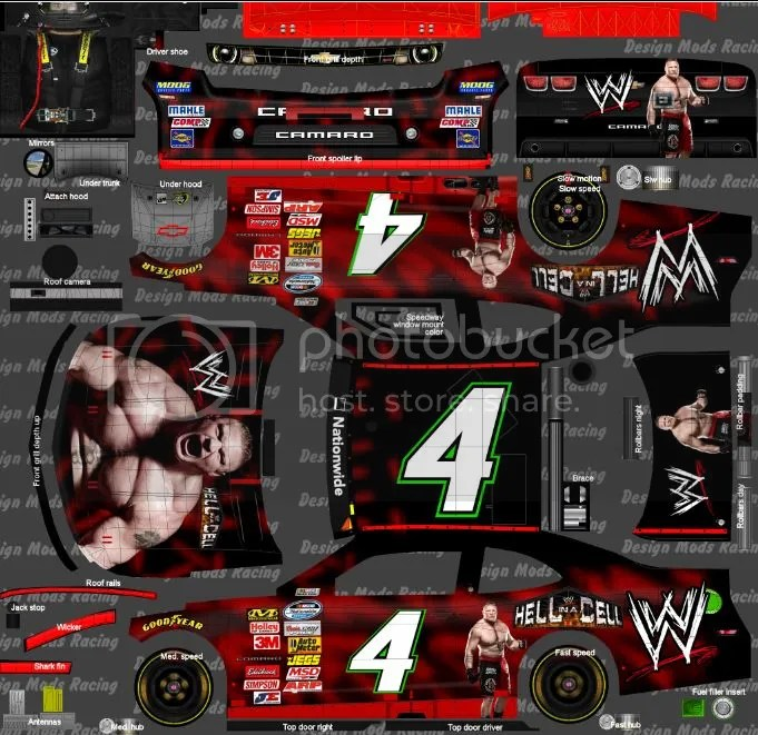 Rikishi Car Wallpaper Nascar Racing 2003 Season Custom Paint Thread
