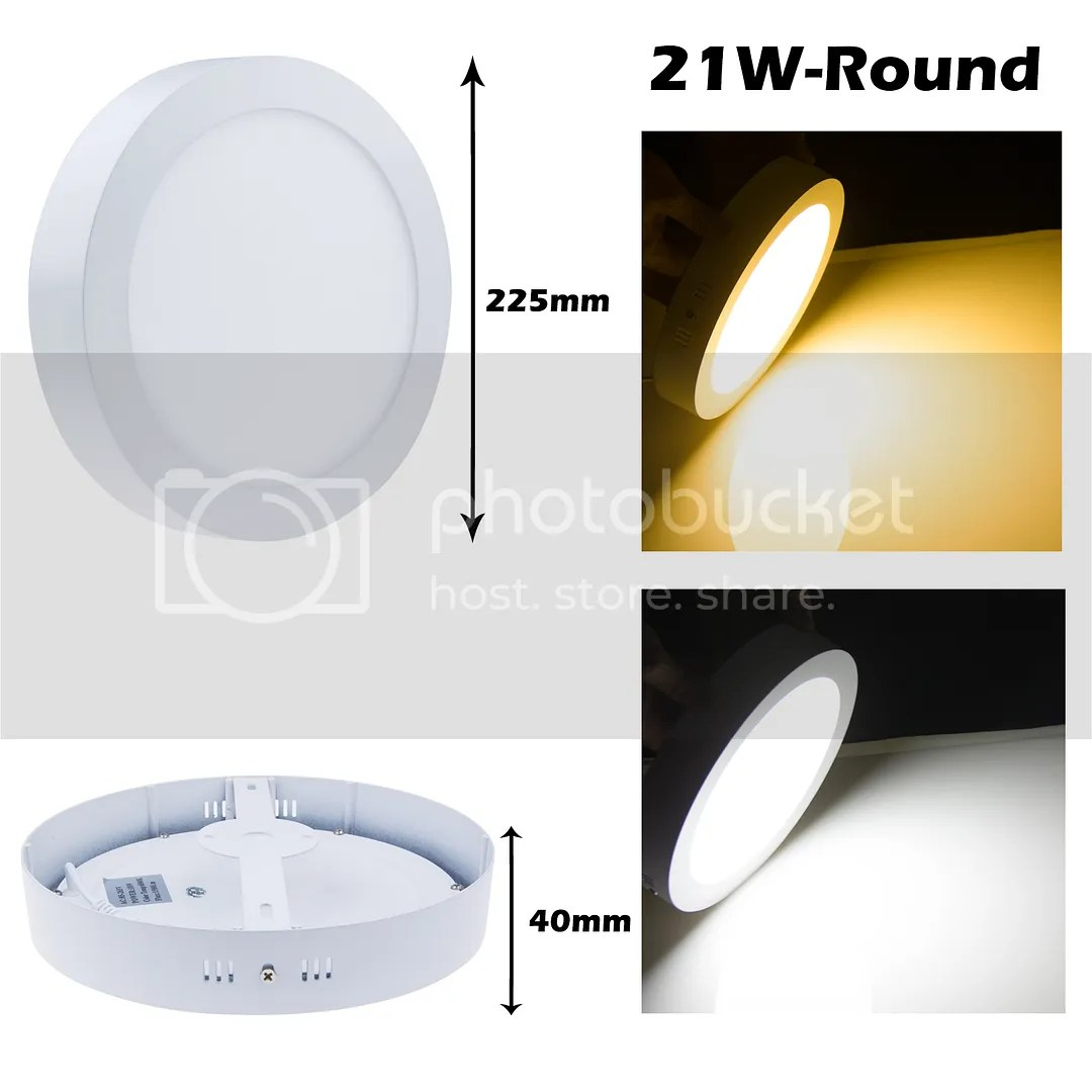 Led Panel Light Square And Round 9w 15w 21w Round Square Led Panel Lighting Surface Mount