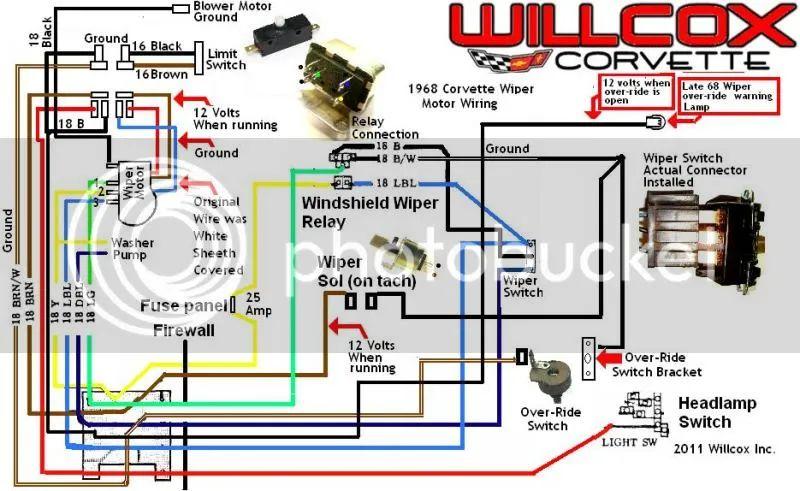 68 corvette wiring schematic
