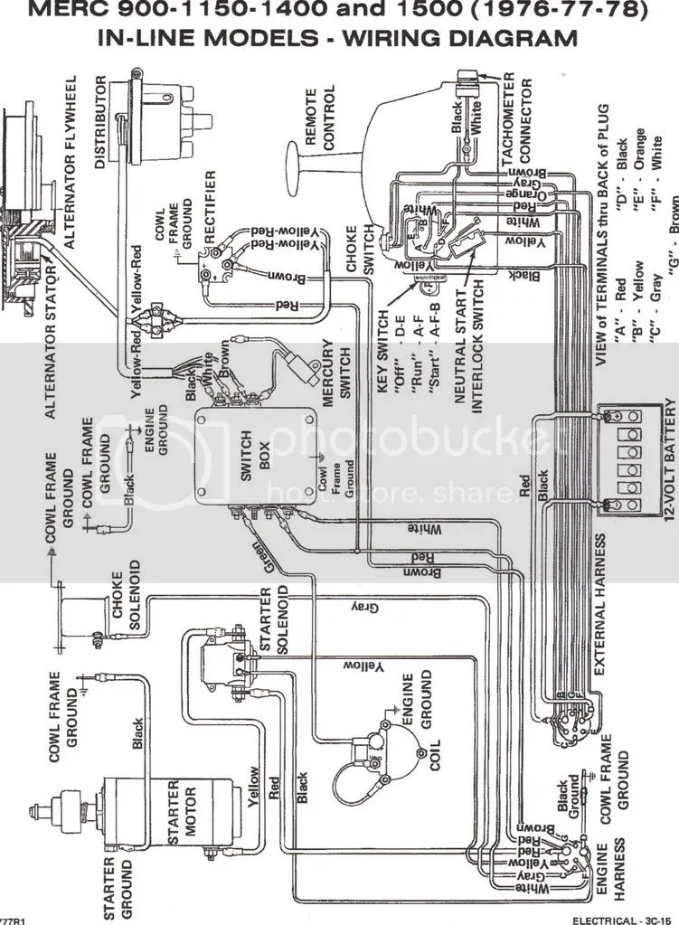 wiring diagram for \u002776 115 merc Page 1 - iboats Boating Forums 140317