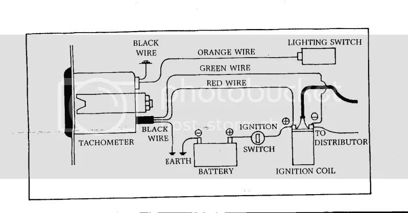 wiring diagram for rev counter