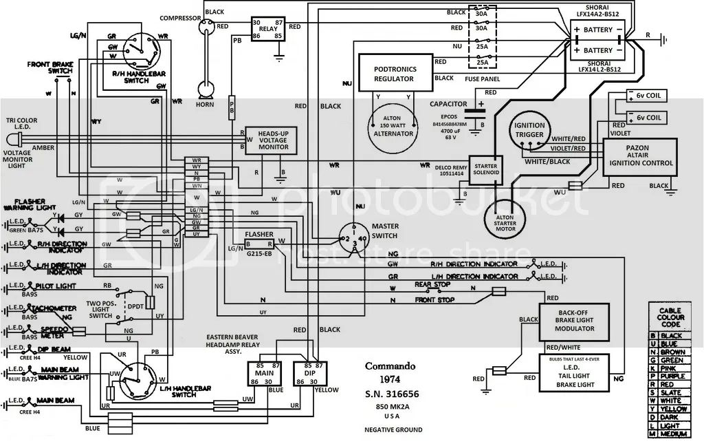 norton wiring diagram batteries