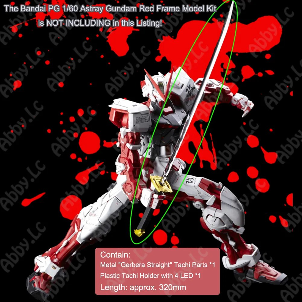 Led You Astray Details About Metal Gerbera Straight Tachi W 4 Led Holder For Pg 1 60 Astray Gundam Red Frame
