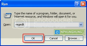Open Registry from Run Dialog