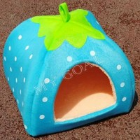 3 Size Soft Strawberry Pet Dog Cat Bed House Kennel Doggy ...