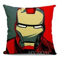 Batman Spider-Man Iron Man Throw Pillow Case Linen Cotton ...