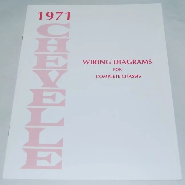 71 1971 Chevelle El Camino Electrical Wiring Diagram Manual eBay