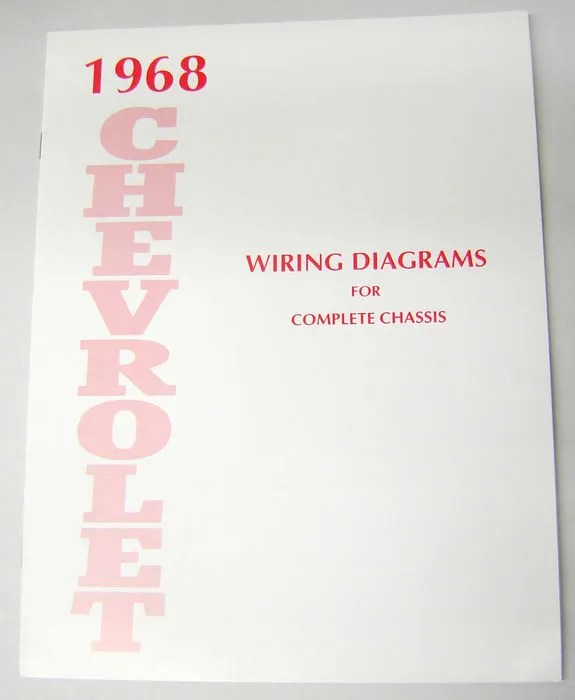 68 1968 Chevy Impala Electrical Wiring Diagram Manual eBay