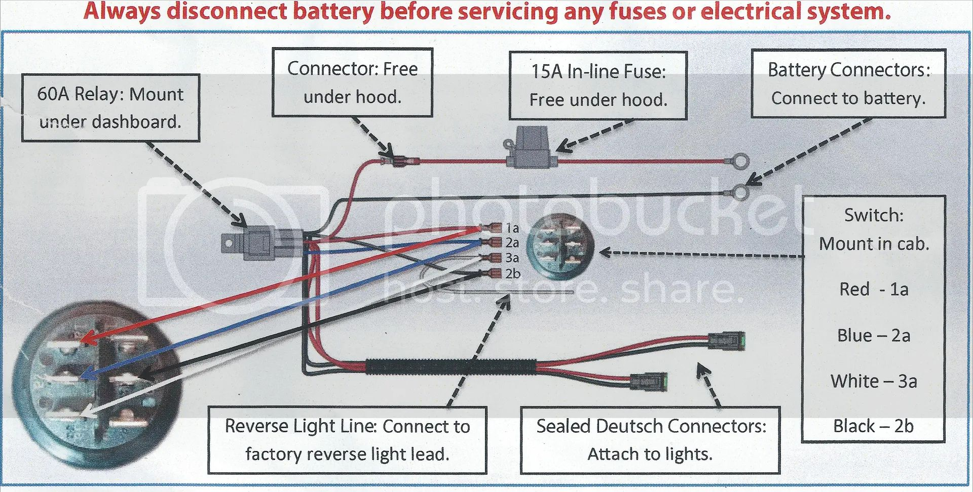 rigid wiring harness for lights