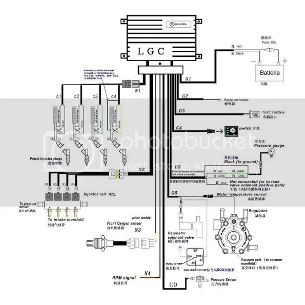 lpg wiring diagram propane lpg sequential injection system gas