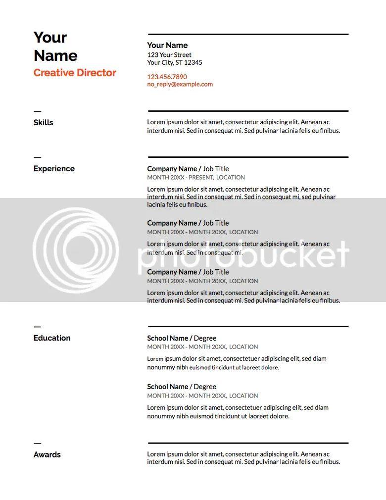 high school resume template google doc