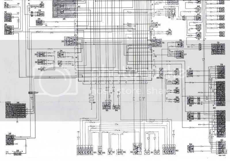 electrical ledningsdiagram mercedes benz 300e