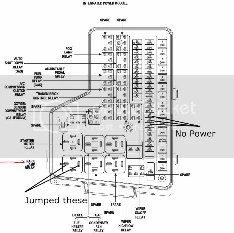 2004 dodge ram 3500 diesel fuse box diagram
