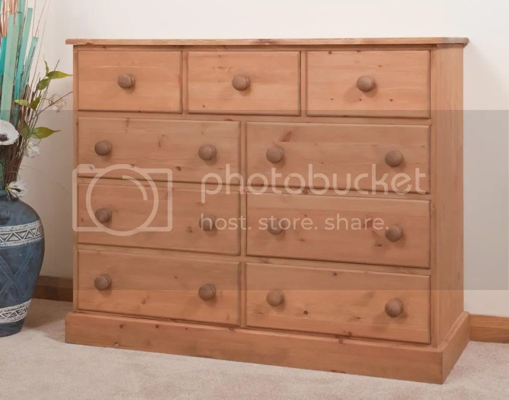 Waxed Pine Chest Of Drawers Solid Pine Chest Of Drawers Multi Chest Handmade
