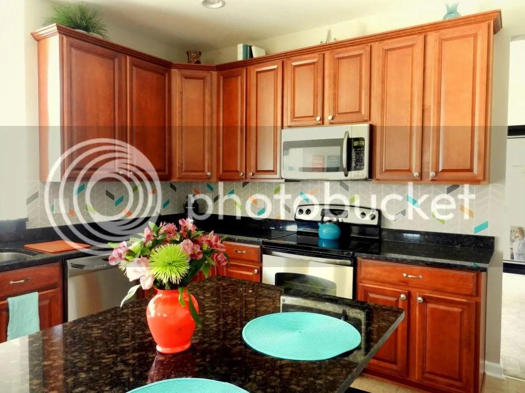 finished kitchen snazzy backsplash kitchen backsplash colorful painted diy kitchen backsplash kitchen
