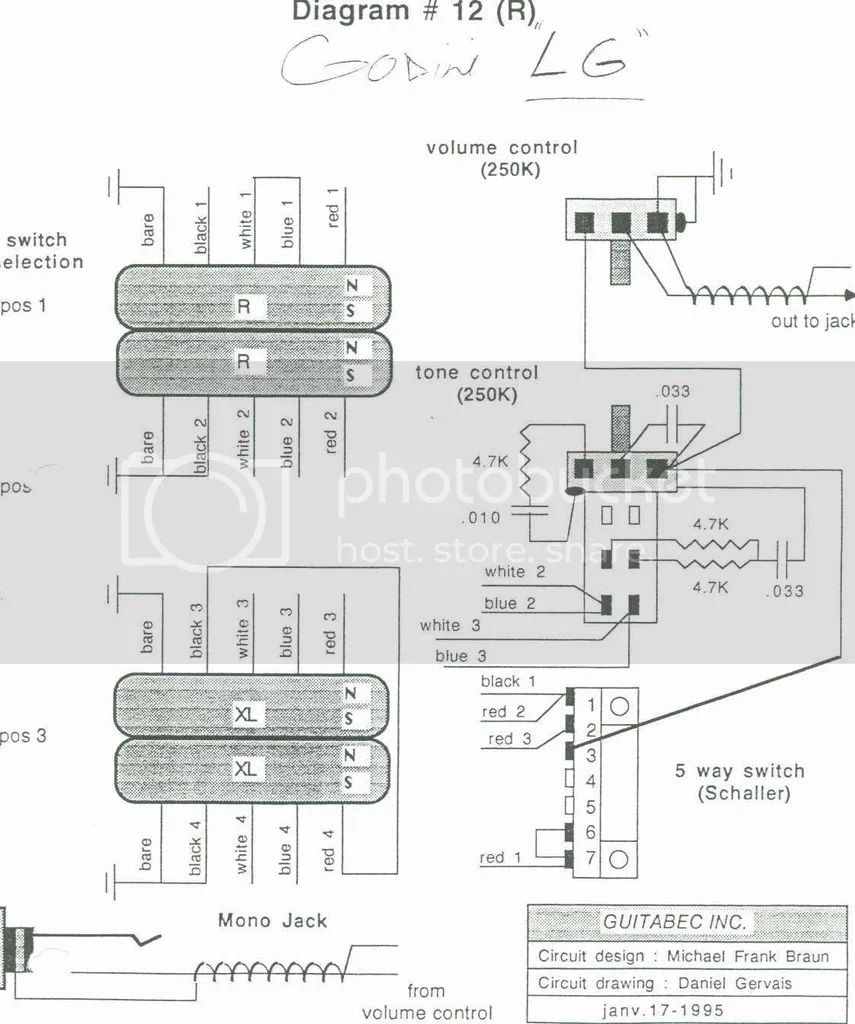 godin guitar wiring diagrams