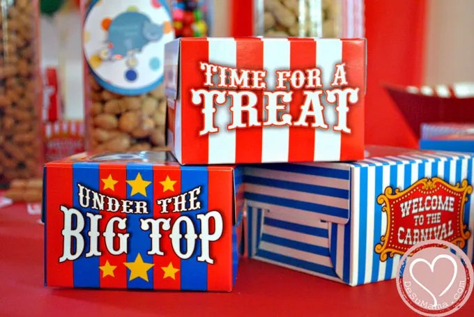 Big Top Circus Party, Circus Party Food and Party Ideas