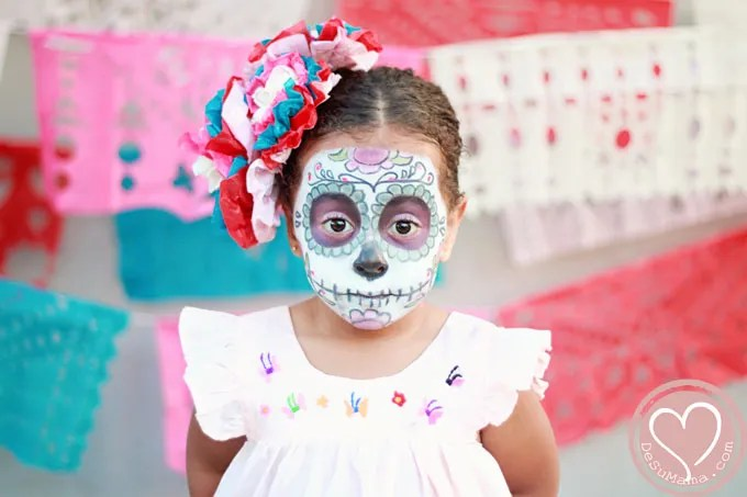 Mexican Day of the Dead, Vegas Blog, Vegas Family, day of the dead makeup, dia de los muertos las vegas