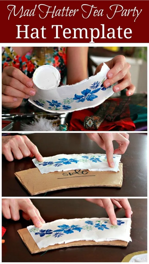 Mad hatter tea party hat tutorial de su mama - Mad hatter tea party decoration ideas ...