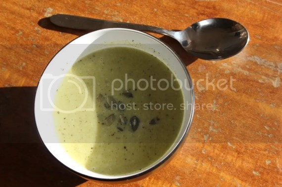 Soup broccoli and boursin soup