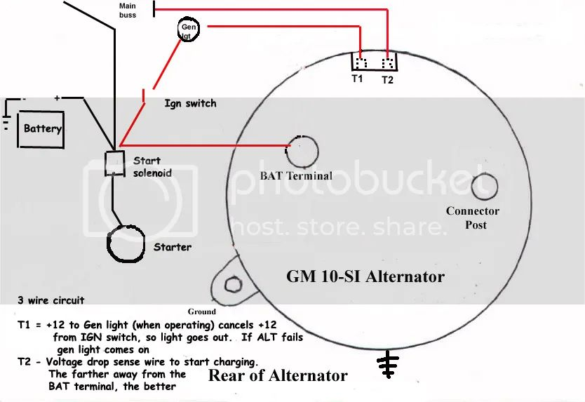 gm si alternator wiring
