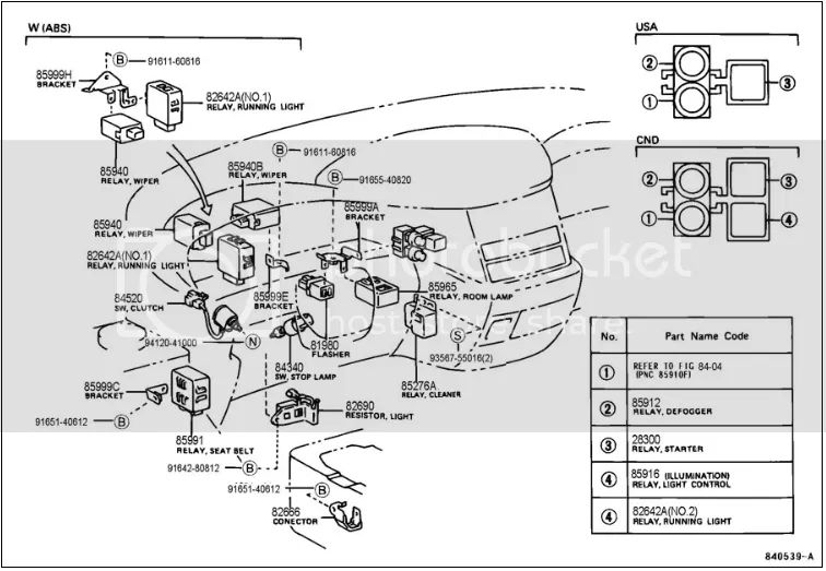 toyota previa fuse box diagram