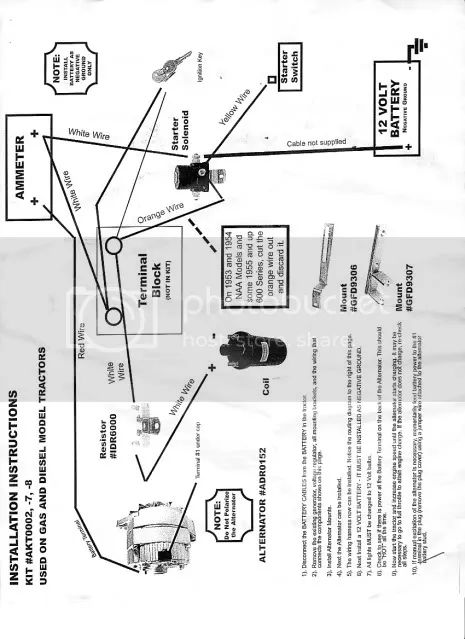 53 ford jubilee wiring diagram