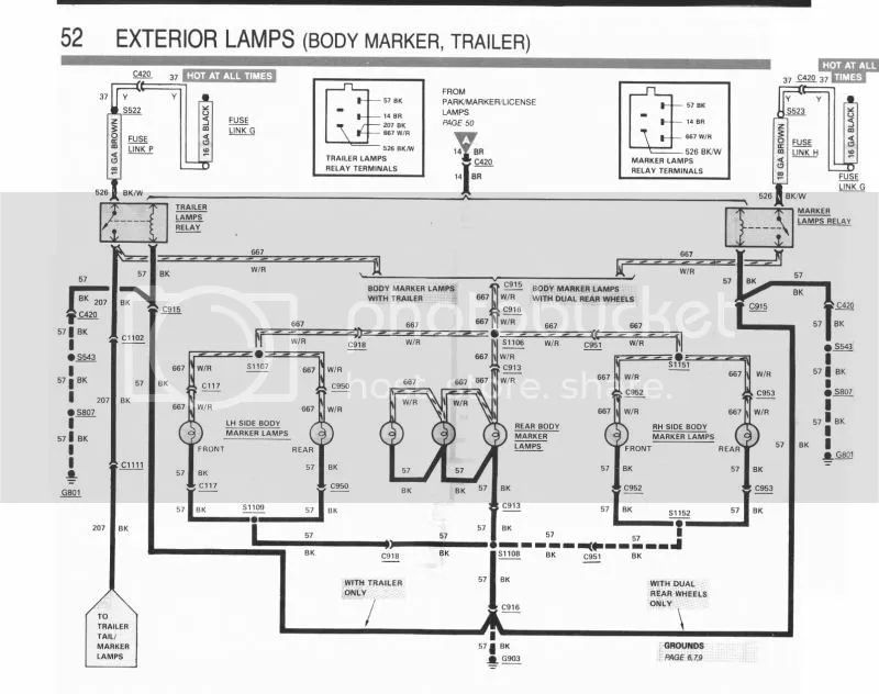 89 ford running lights wiring