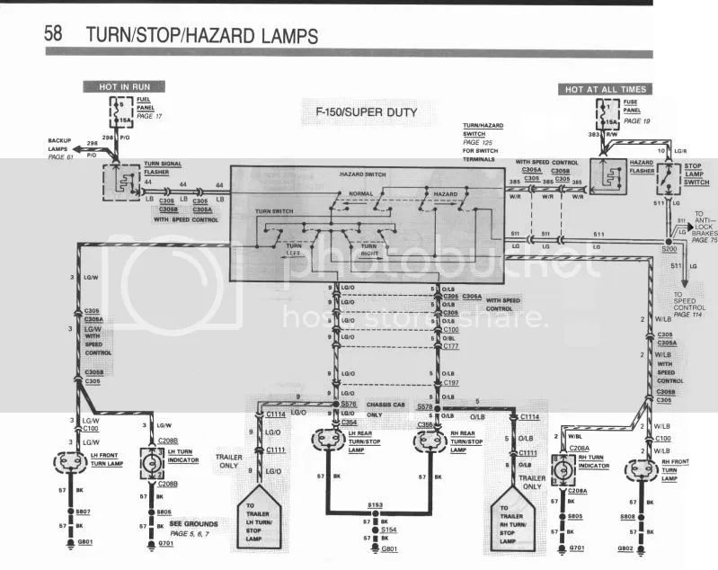 1990 f250 brake light problem