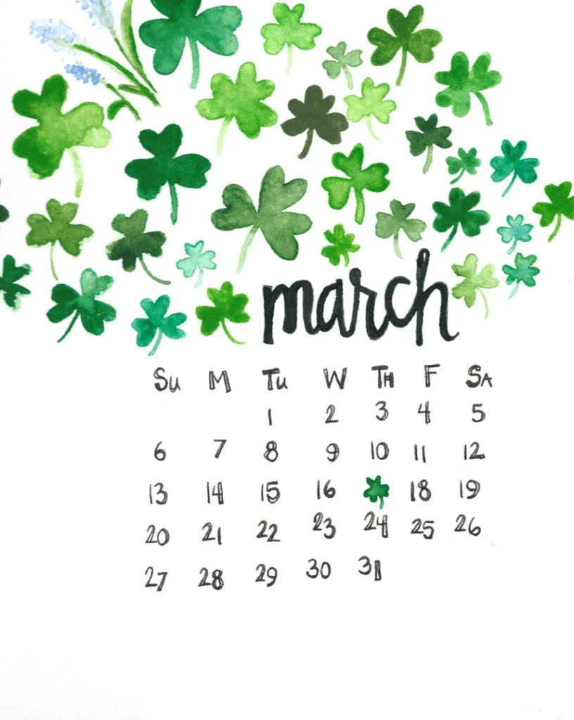 march goals printable calendar