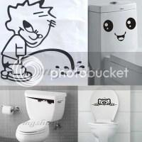 Toilet Smiley Face peep Bathroom Decal Funny vinyl ...