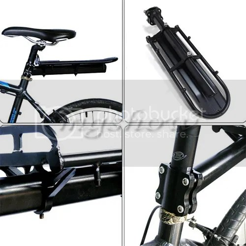 Black Cycling Bike Bicycle Rear Beam Carrier Rack Seat