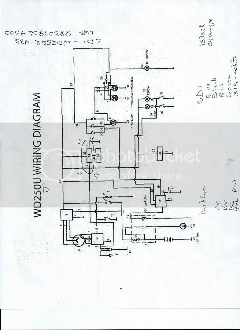 baja wilderness 250 wiring diagram