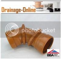 110mm Underground Drainage Fittings   eBay