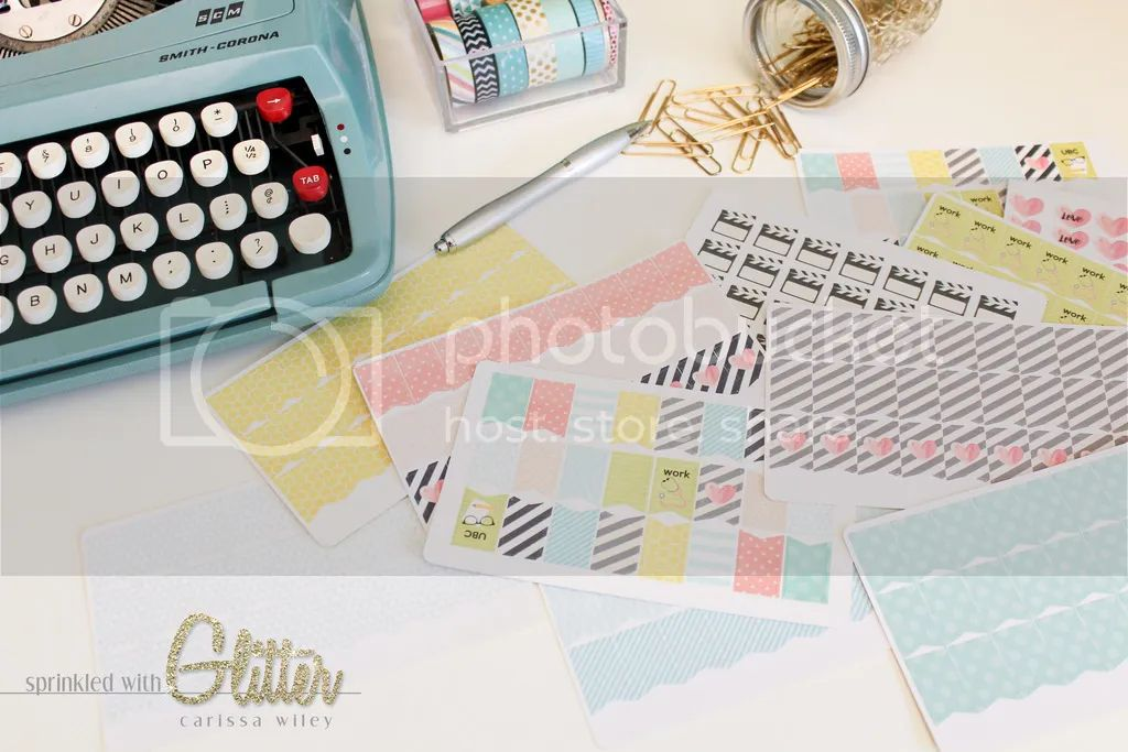 Sprinkled with glitter create your own custom planner