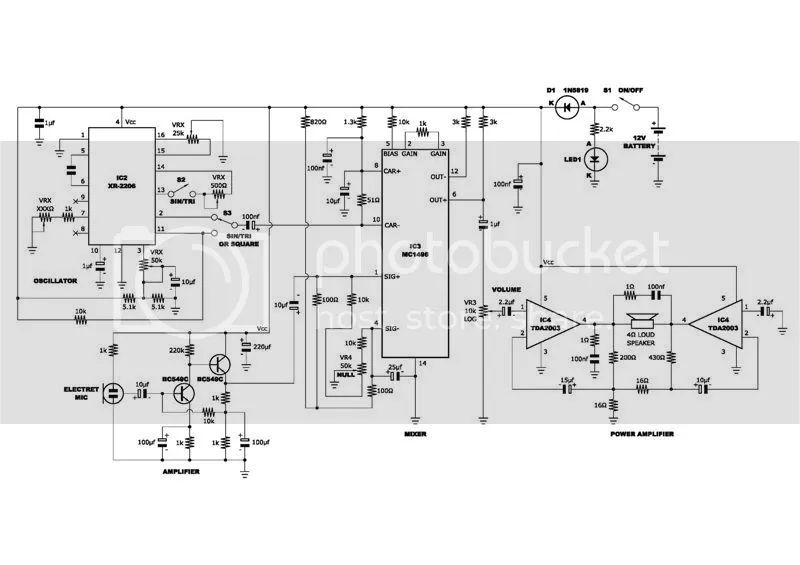 voice modulator circuit diagram