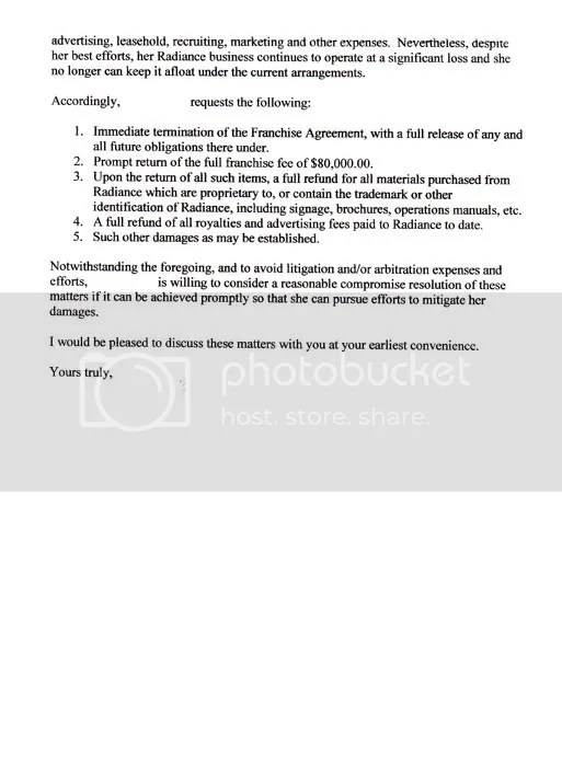 How to Terminate a Medical Spa Franchise Letters of woe \u2014 Medical