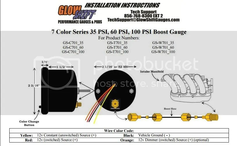 Glowshift Boost Gauge Wire Diagram - Wwwcaseistore \u2022