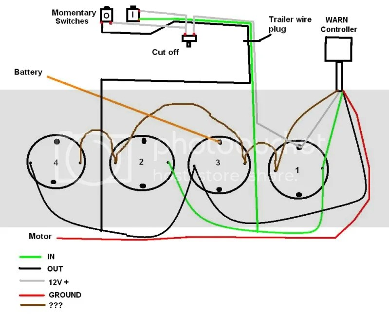 Momentary Switch Winch Wiring Diagram Electrical Circuit