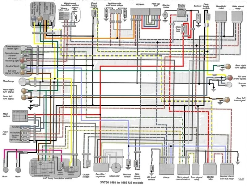 Xv750 Wiring Diagram