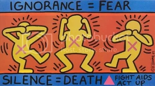Ignorance = Fear, Silence = Death, Keith Haring