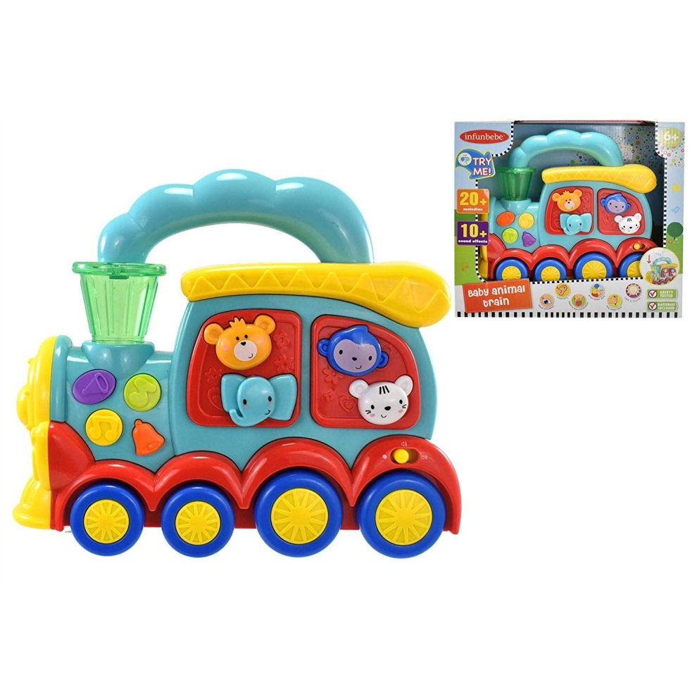 Babies Interactive Toys Baby Animal Train Activity Sensory Light Sound Interactive Babies Learning Toy 6 Months