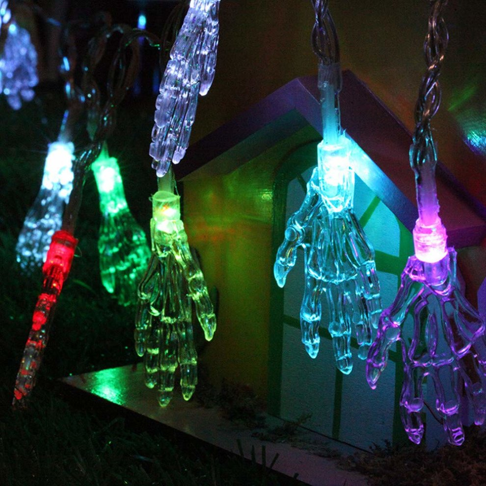 Led Halloween Lights Wondder Led Halloween Lights Ghost Hand Battery Powered String Lights For Bar Holiday Home Halloween Theme Parties Decoration Supplies
