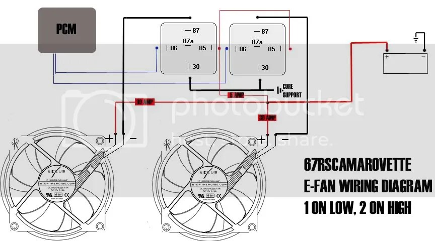 Electric Fan Relay Diagram Furthermore Ls1 Cooling Fan Wiring