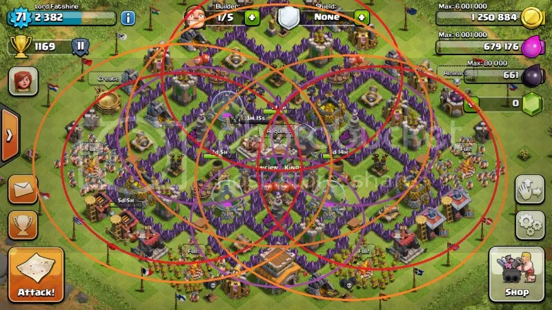 Base design for clash of clans town hall level 8