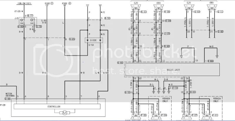 wiring diagram for mitsubishi magna radio