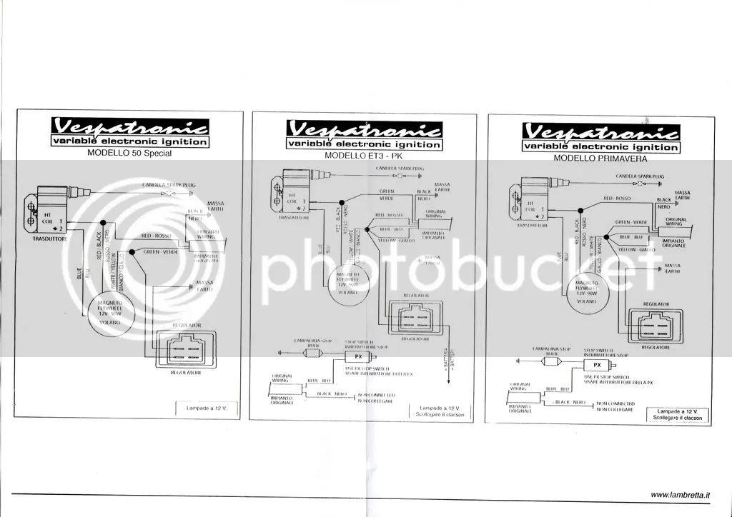 vespatronic vespa wiring diagram
