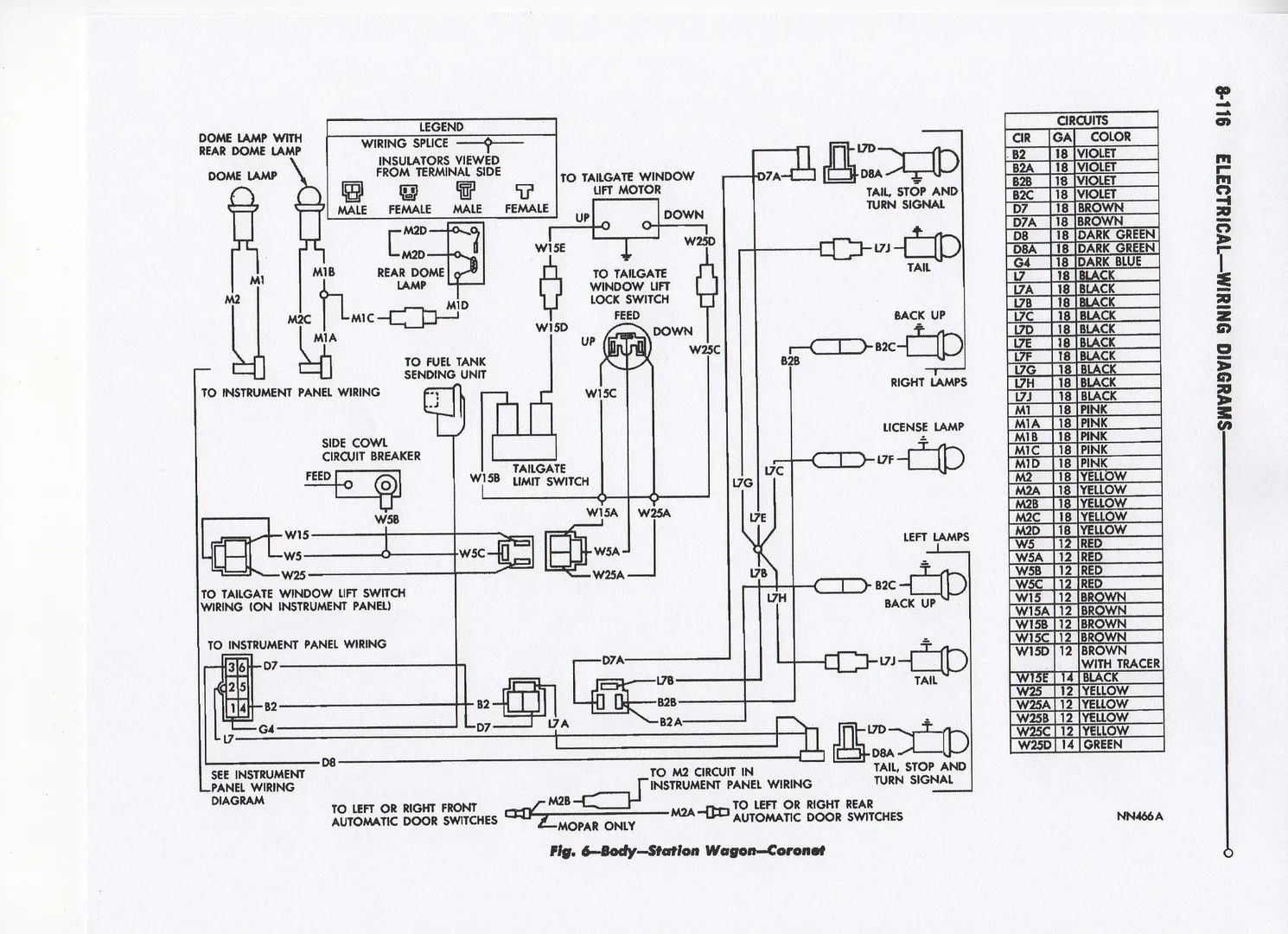 67 coronet wiring diagram