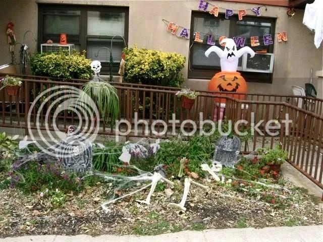 Halloween display in New Jersey
